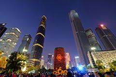 2016 nouvelles années chinoises dans la place de Guangzhou Huacheng Images stock