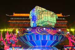 2019 nouvelles années chinoises dans Xian photographie stock libre de droits