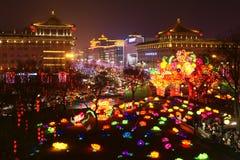 2019 nouvelles années chinoises dans Xian images stock