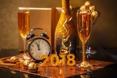 2018 nouvelles années d'Ève Photos stock