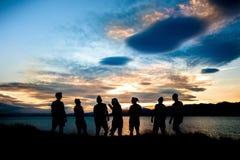 Nouvelles années d'Ève au Nouvelle-Zélande photographie stock libre de droits