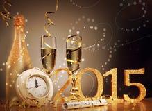 2015 nouvelles années d'Ève de fond de célébration Image stock