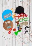 2015 nouvelles années d'Ève de photo de partie de cabine Photographie stock libre de droits