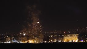 Nouvelles années d'Eve January 01 2019 feux d'artifice à Salonique, Grèce clips vidéos