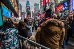 2015 nouvelles années d'Eve Times Square Image stock