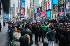 2015 nouvelles années d'Eve Times Square Image libre de droits
