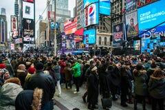 2015 nouvelles années d'Eve Times Square Images libres de droits