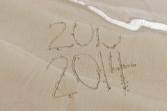 Nouvelles années d'image 2013 2014 Images libres de droits
