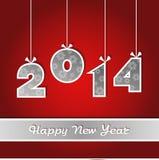 Nouvelles années de carte 2014 Images stock
