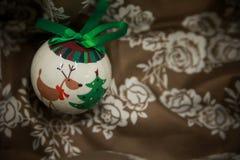 Nouvelles années de décorations d'arbre Photo stock
