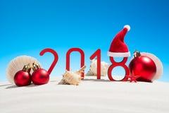 Nouvelles années de fête de concept avec des coquillages Photo stock