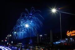 Nouvelles années de feux d'artifice Photo libre de droits