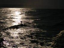 Nouvelles années de nageur de jour photographie stock