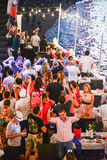 Nouvelles années de partie d'Ève à Pattaya Image stock