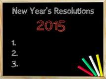 Nouvelles années de résolutions 2015 Photo stock