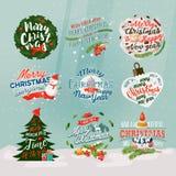 2018 nouvelles années et bannière ou signes de Noël Photos libres de droits