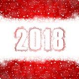 2018 nouvelles années heureuse Images libres de droits