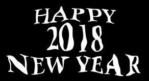 2018 nouvelles années heureuse Photos stock