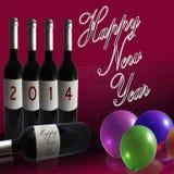 2014 nouvelles années heureuse Photographie stock libre de droits
