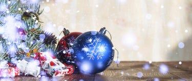 2018 nouvelles années, Noël Décorations de Noël Photos stock