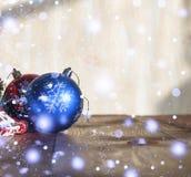 2018 nouvelles années, Noël Décorations de Noël Photographie stock libre de droits