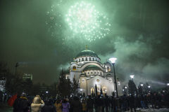 Nouvelles années orthodoxes de célébration de la veille Photographie stock libre de droits