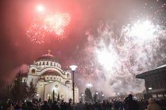 Nouvelles années orthodoxes de célébration de la veille Photographie stock