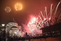 Nouvelles années orthodoxes de célébration de la veille Images stock