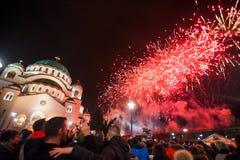 Nouvelles années orthodoxes de célébration de la veille Image libre de droits