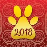 2018 nouvelles années pour poursuivre la célébration Images stock