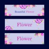 Nouvelles bannières simples de fleur photographie stock libre de droits