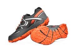 Nouvelles chaussures sans marque de sport d'isolement sur le blanc Photographie stock libre de droits