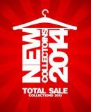 Nouvelles collections 2014, vente totale 2013. illustration libre de droits