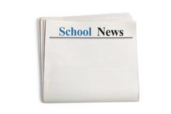Nouvelles d'école Photographie stock libre de droits