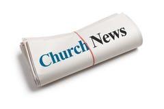 Nouvelles d'église Photo libre de droits