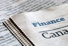 Nouvelles de finances Image libre de droits