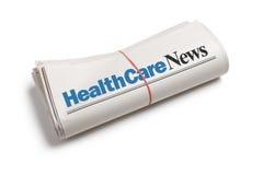 Nouvelles de soins de santé Photographie stock libre de droits