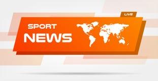 Nouvelles du monde Live Banner sur les lignes onduleuses fond Fond d'actualités de technologie d'affaires Illustration de vecteur Illustration Libre de Droits