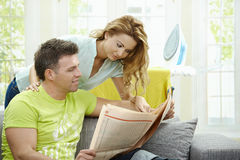 Nouvelles du relevé de couples Images libres de droits