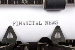 Nouvelles financières images stock