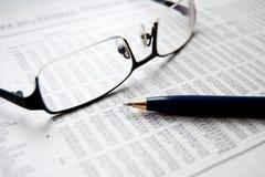 Nouvelles financières Image stock