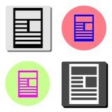 nouvelles Icône plate de vecteur illustration de vecteur