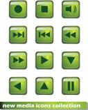 Nouvelles icônes de media Image libre de droits