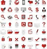 Nouvelles icônes de Web Images stock