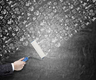 Nouvelles idées, peignant le mur Image stock