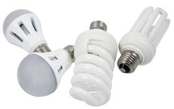 Nouvelles lampes d'économie photos stock