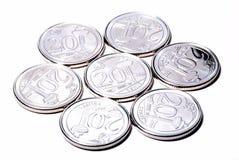 Nouvelles pièces de monnaie de Singapour images stock