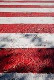 Nouvelles rayures rouges et blanches, lignes images libres de droits