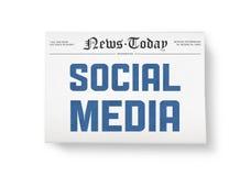 Nouvelles sociales de medias Photographie stock