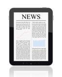 Nouvelles sur le PC de tablette Photo libre de droits